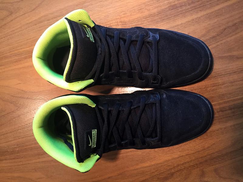 Nike 6.0 Air Mogan Mid 3 | schwarzneon gelb | Gr. 45,5