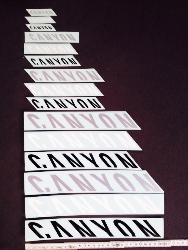 Canyon Aufkleber Set Rahmen Sticker Decals verschiedene Größen und ...