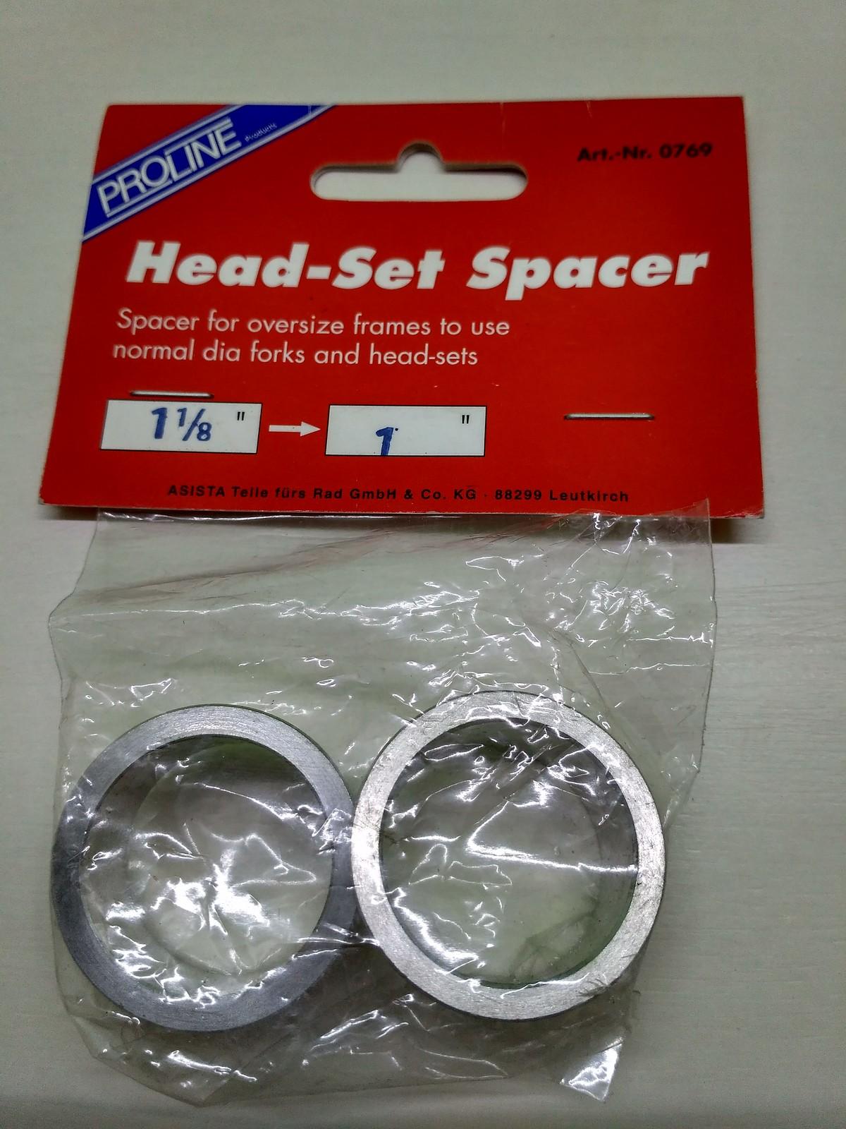 Proline Head-Set Spacer Adapter zur Montage von 1 Zoll Steuersätzen ...