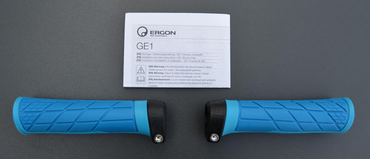 Ergon GE1 Griffe Gripps in blau für Mountainbike Trail / Gravity ...