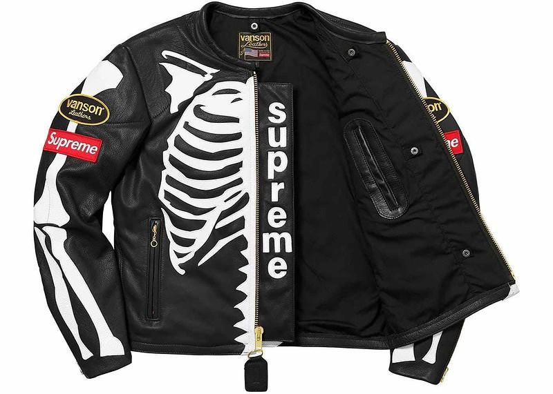 Vanson Streetfighter Bikerjacke Bones Supreme Caferacer Neu Lederjacke Harley b7gyfvY6