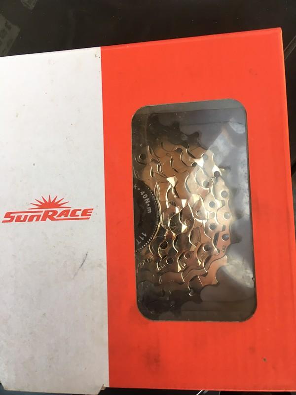 SUNRACE csm63/7-fach vernickelt Kassette